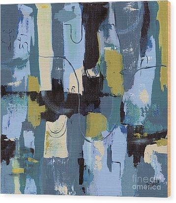 Spa Abstract 2 Wood Print by Debbie DeWitt