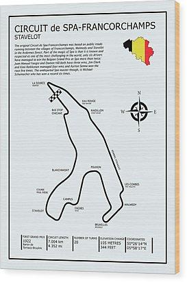 Spa Francorchamps Wood Print by Mark Rogan