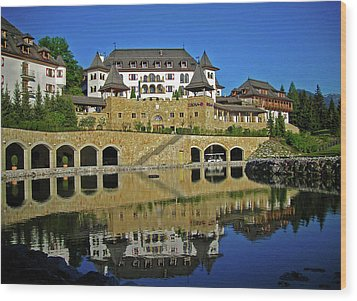 Spa Resort A-rosa - Kitzbuehel Wood Print by Juergen Weiss
