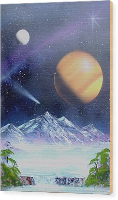Space Art 2 Wood Print by Lane Owen