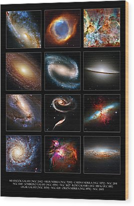 Space Beauties Wood Print by Ricky Barnard