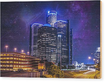 Wood Print featuring the photograph Space Detroit by Nicholas  Grunas