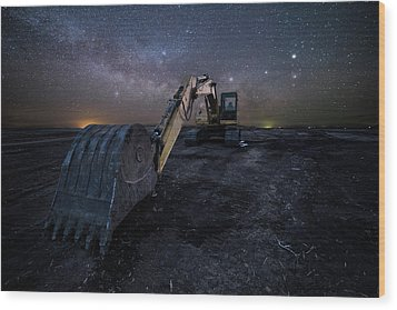 Wood Print featuring the photograph Space Excavator  by Aaron J Groen