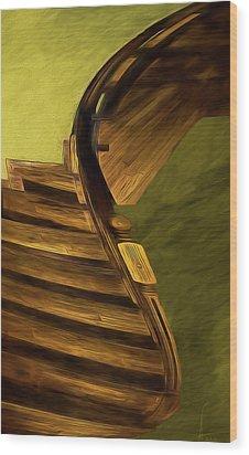 Space Geometry #12 Wood Print by Alex Galkin
