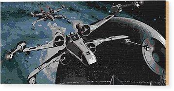 Space Wood Print by George Pedro