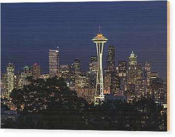 Wood Print featuring the photograph Space Needle by David Chandler
