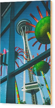 Space Needle Wood Print