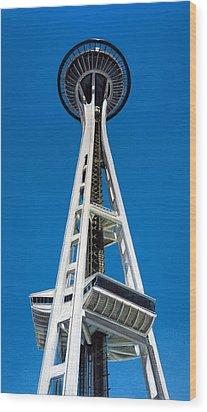 Space Needle Wood Print