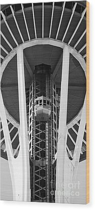 Wood Print featuring the photograph Space Needle Seattle by Chris Dutton