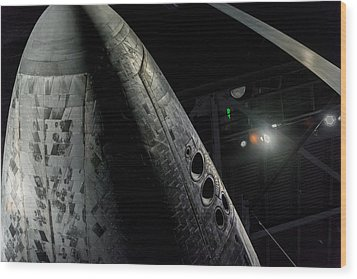 Space Shuttle Nose  Wood Print by David Collins