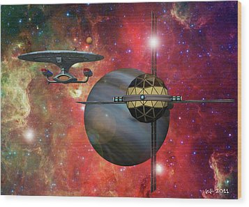 Spaceliner Opulence Wood Print by James C Jones II