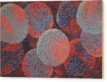 Wood Print featuring the painting Spacial Hydrangeas by Paul Amaranto