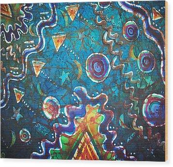 Spacious Skies Wood Print by Sue Duda