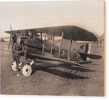 French Spad Xiii 1918 Wood Print by US Signal Corp