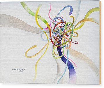Spaghetti Abstract Wood Print by John Norman Stewart