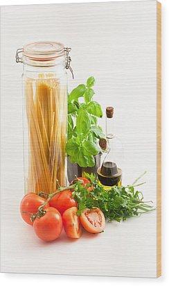 Spaghetti Wood Print by Tom Gowanlock