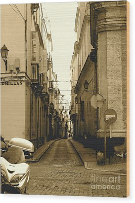 Spain Streets Wood Print by Carly Athan