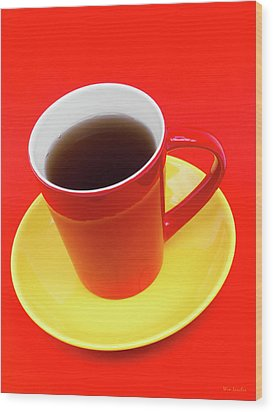 Spanish Cup Of Coffee Wood Print by Wim Lanclus
