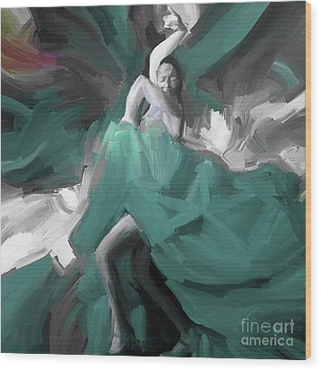 Wood Print featuring the painting Spanish Dance Art 56yt by Gull G