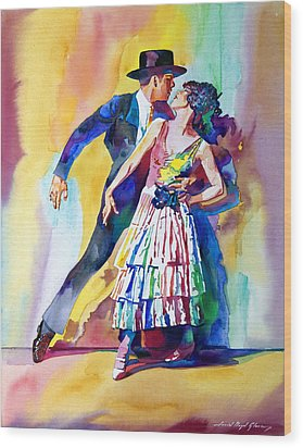 Spanish Dance Wood Print by David Lloyd Glover