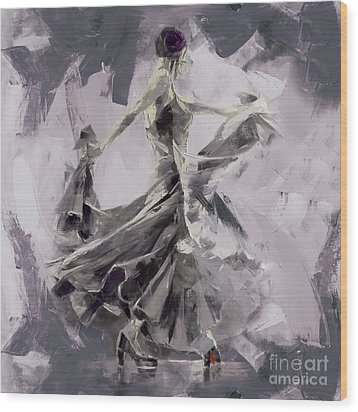 Wood Print featuring the painting Spanish Dance Painting 03 by Gull G