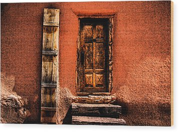 Spanish Door Wood Print