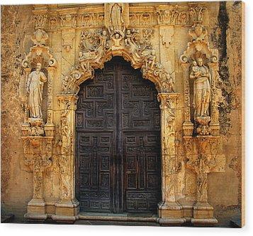 Spanish Doorway Wood Print by Perry Webster