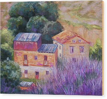 Spanish Farmhouses Wood Print by Candy Mayer