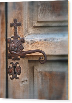 Spanish Mission Door Handle Wood Print