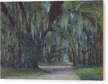 Spanish Moss Wood Print by Billie Colson