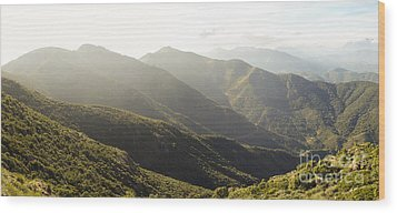 spanish mountain range, Malaga, Andalusia, Wood Print by Perry Van Munster