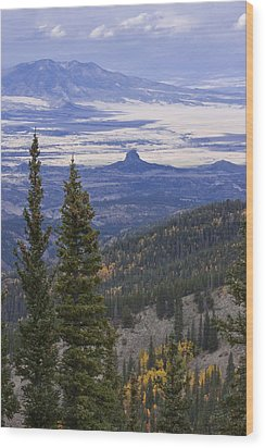 Wood Print featuring the photograph Spanish Peaks by Charles Warren