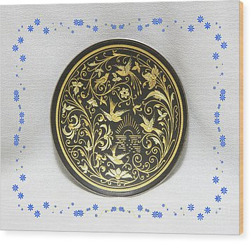 Wood Print featuring the photograph Spanish Plaque by Linda Phelps