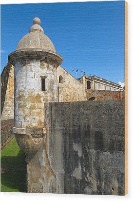 Spanish Sentry Post Of San Cristobal Fort San Juan Puerto Rico Wood Print by George Oze
