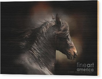 Spanish Stallion Wood Print