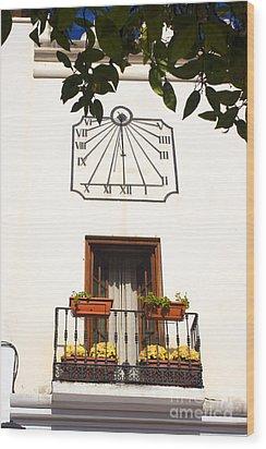 Spanish Sun Time Wood Print
