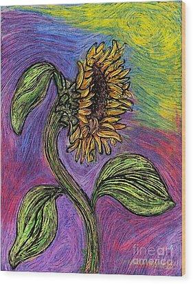 Spanish Sunflower Wood Print