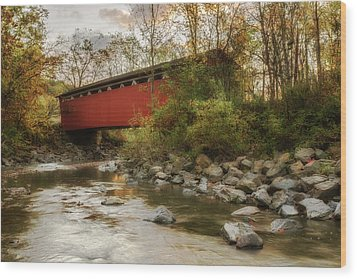 Wood Print featuring the photograph Spanning Across The Stream by Dale Kincaid