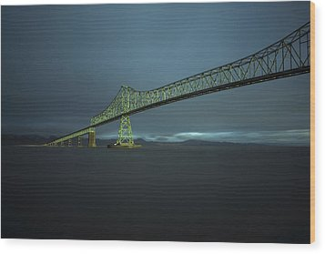 Spanning Columbia Wood Print by Inge Riis McDonald