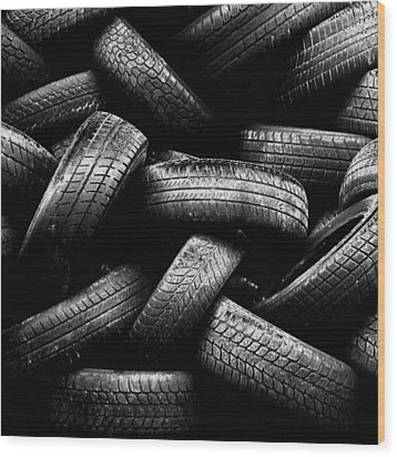 Spare Tires Wood Print by Margherita Wohletz