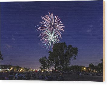 Spark And Bang Wood Print by CJ Schmit