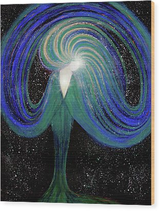 Spark Of Life V2 Wood Print by NARI - Mother Earth Spirit