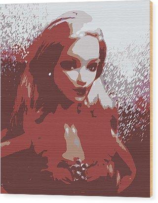 Sparkle Barbie Wood Print by Karen J Shine