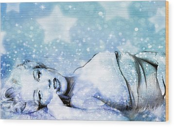 Wood Print featuring the digital art Sparkle Queen by Greg Sharpe