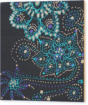 Midnite Sparkle Wood Print