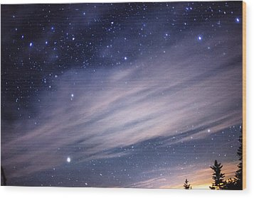 Sparkling Sky  Wood Print