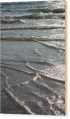 Sparkling Sunshine On Gentle Surf Wood Print by Carol Groenen