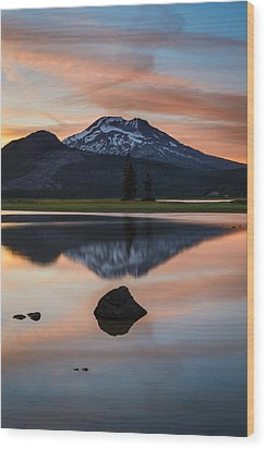 Sparks Lake At Sunset Wood Print