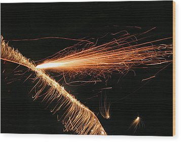 Sparks Will Fly Wood Print by Kristin Elmquist