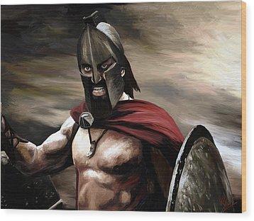 Spartan Wood Print by James Shepherd